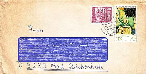 GERMANY DDR [1979] MiNr 2421 ( Brief ) Kunst [A17]