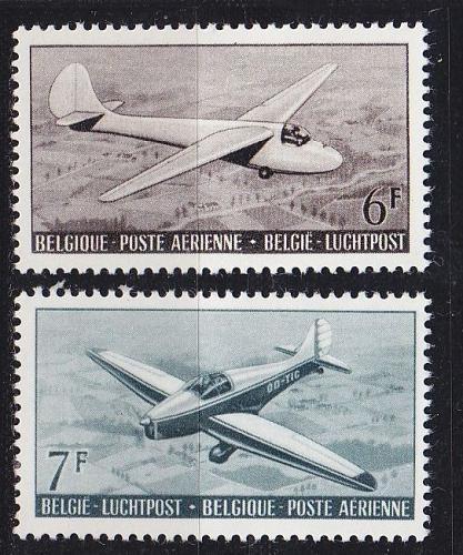 BELGIEN BELGIUM [1951] MiNr 0904-05 ( */mh ) Flugzeug