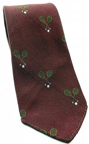 Tennis Rackets Sports All Over Print Red Sports Novelty Tie
