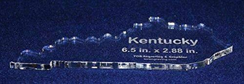 """State of Kentucky Template 6.5"""" X 2.88"""" - Clear ~1/4"""" Thick Acrylic"""