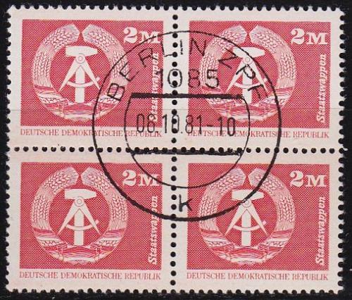 GERMANY DDR [1980] MiNr 2550 4er ( O/used )