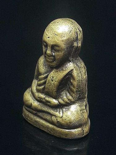 LP NGERN WAT BANGKLAN Thai Buddha Amulet Statue Lucky Money Pendant Old Thailand