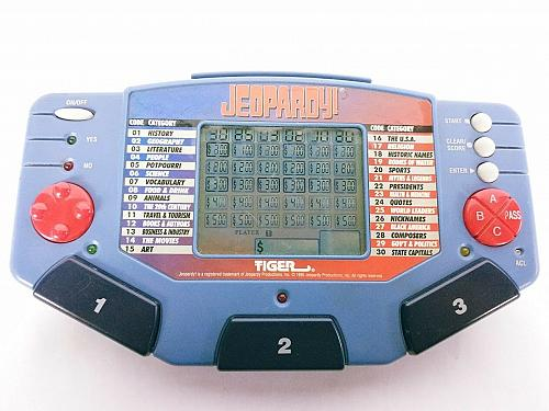 Jeopardy Handheld Electronic Game 1995 Tiger Electronics 1 Cartridge