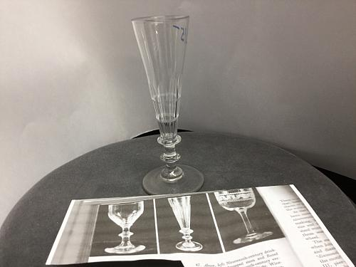 Cut glass nineteenth century version of the flute glass