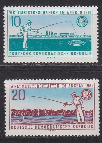 GERMANY DDR [1961] MiNr 0841-42 ( **/mnh ) Sport