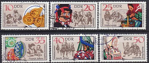 GERMANY DDR [1982] MiNr 2716-21 ( OO/used ) [02] Trachten
