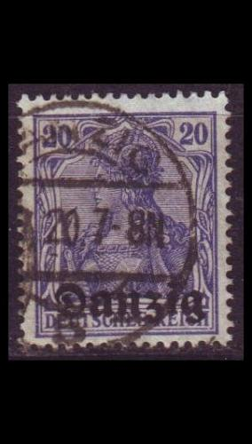 GERMANY REICH Danzig [1920] MiNr 0004 ( OO/used )
