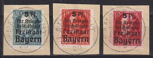 GERMANY Bayern Bavaria [1919] MiNr 0171-73 A ( BStk ) [01]