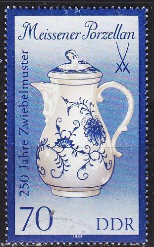 GERMANY DDR [1989] MiNr 3244 II ( OO/used ) Meissen
