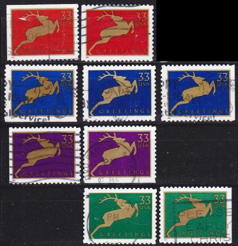 USA [1999] MiNr 3216 ex ( O/used ) [01] Hirsche