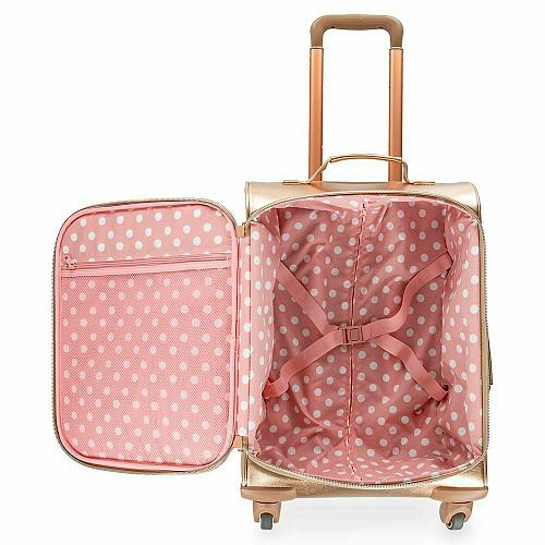 New Disney Parks Minnie Mouse Rolling Luggage by Loungefly Free Shipping