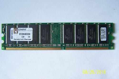 kingston memory 1 GB Module DDR 333MHZ (D12864C250) 2.5V