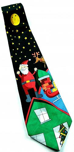 Save The Children Santa On My Roof Christmas Reindeer Novelty Silk Tie
