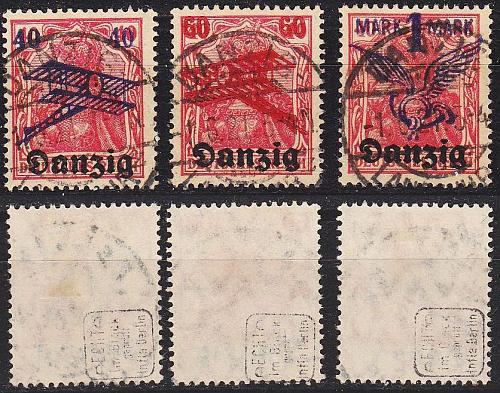 GERMANY REICH Danzig [1920] MiNr 0050-52 ( OO/used ) [01]
