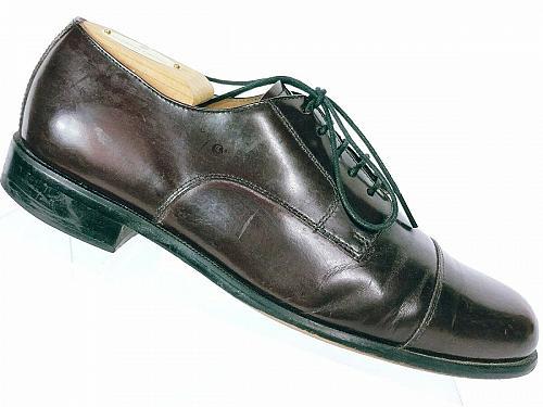 Bostonian Classics Men's Burgundy Leather Oxfords Derby Cap Toe Dress Shoe 8.5 M