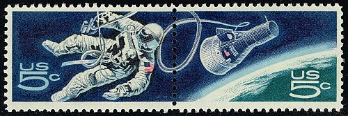 US #1332b Accomplishments in Space Pair; MNH (4Stars) |USA1332b-02