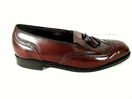 Florsheim Burgundy Kilt Tassels Wingtip Loafer Dress Shoes Men's 9.5 EEE (SM4)