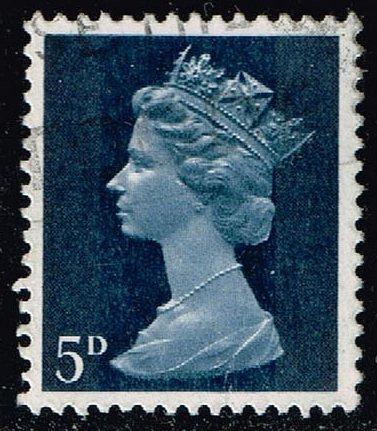 Great Britain #MH8 Machin Head; Used (0.25) (4Stars)  GBRMH008-03XBC