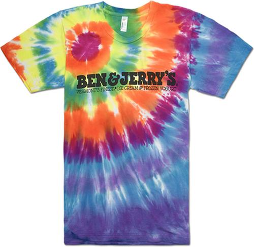 NEW BEN & JERRY'S TIE DYE T-shirt Ice Cream Tee ALL SIZES Fast Free Ship
