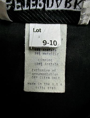 AFTER DARK womens Sz 9-10 L/S gray METALLIC 3 jeweled button stretch jacket (F)