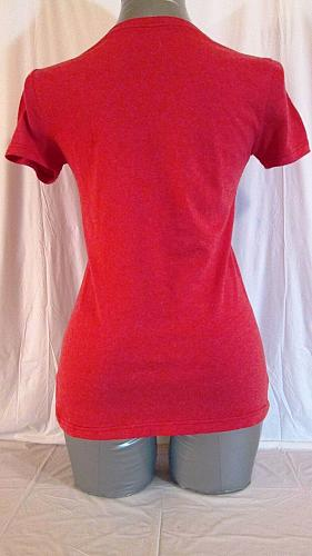 DISNEY STORE womens XS S/S MINNIE MOUSE NY RED TOP (D)P