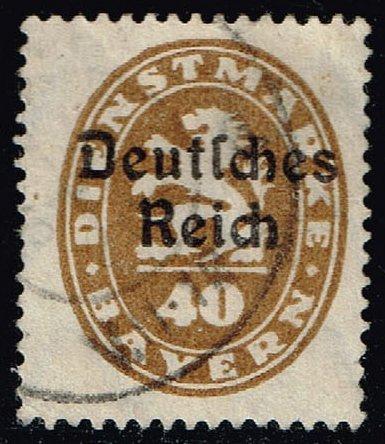 Germany-Bavaria #O57 Official Stamp; Used (1.60) (3Stars)  BAYO57-02XVA