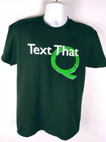 Text That Q Men's T-Shirt Medium Graphic Short Sleeve Black