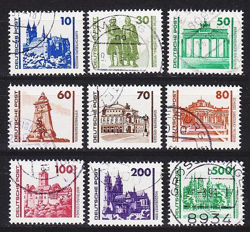 GERMANY DDR [1990] MiNr 3344-52 ( OO/used ) [01] Architektur
