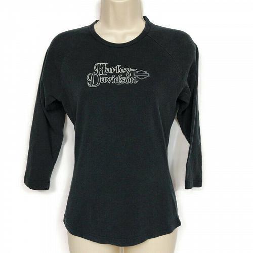 Harley Davidson Womens Doc's St Louis Long Sleeve T-Shirt Medium Black
