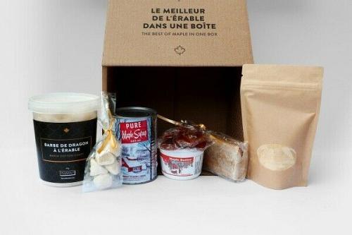 100% Maple syrup box basket set gift kit Canadian company Free Shipping Grade A
