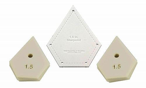 "Mylar 1.5"" Starpoint -51 Piece Set - Quilting / Sewing Templates"