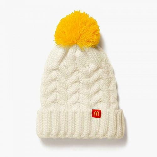 New Sealed McDonald Knit Winter Beanie Pom Hat Golden Arches rare Free Shipping
