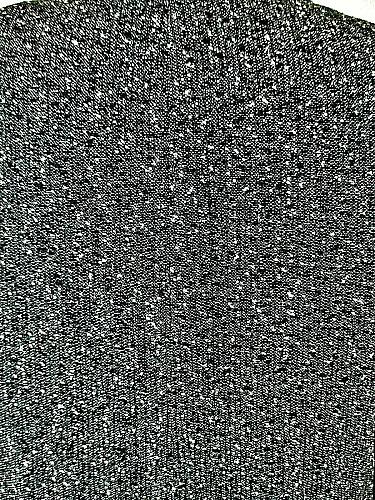 LIZ CLAIBORNE womens Sz 14 L/S black white TWEED 2 pocket WOOL blend coat (B9)