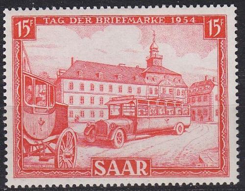 GERMANY Saar [1954] MiNr 0349 ( */mh )