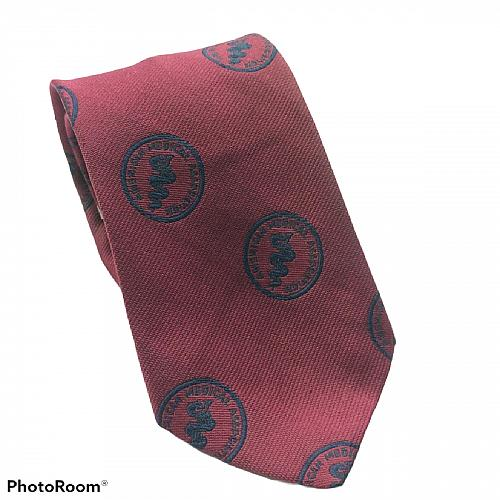 American Medical Association Caduceus Staff Serpents Embroidered Novelty Necktie