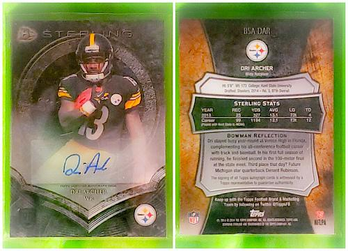NFL Dri Archer Pittsburgh Steelers Autographed 2014 Bowman Sterling Rookie Mint