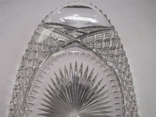 American Brilliant Period hand Cut Glass tray abp antique