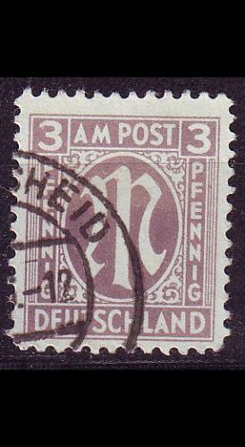 GERMANY Alliiert AmBri [1945] MiNr 0017 a D ( O/used )