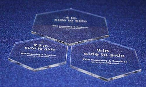 """3 Piece Set 1/8"""" Hexagon Sizes. You Get One of Each, 2 1/2"""", 3"""", 4"""""""