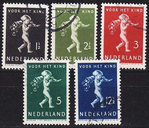 NIEDERLANDE NETHERLANDS [1939] MiNr 0336-40 ( O/used )