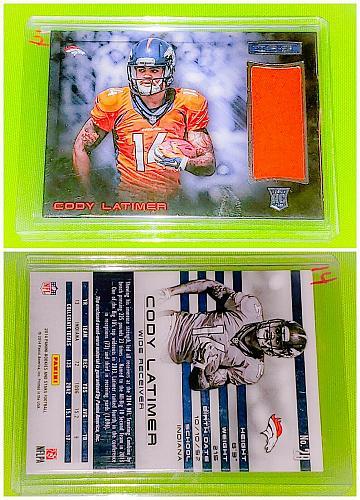 NFL Cody Latimer Denver Broncos 2014 Panini Rookie Jumbo Jersey Mint