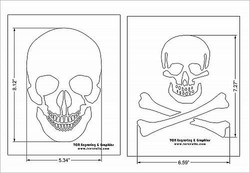 "Large Skull 2 Piece Stencil Set 14 Mil 8"" X 10"" Painting /Crafts/ Templates"