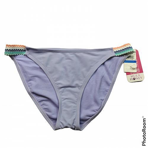 NWT Hula Honey Womens Smock and Roll Hipster Bikini Swim Bottom XL Purple