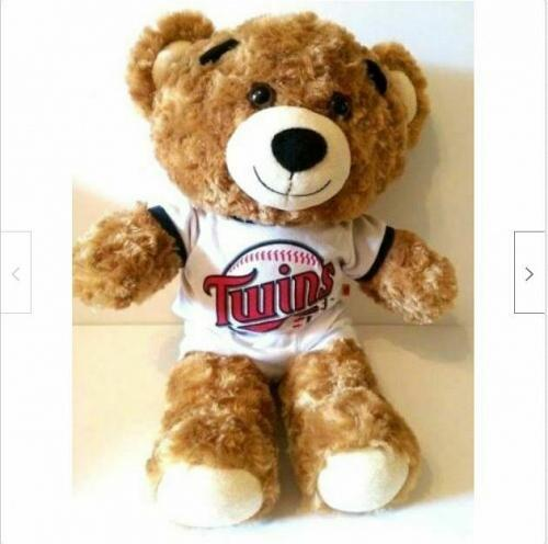 "Minnesota Twins 17"" Plush Teddy Bear Build A Bear MLB Baseball Collectible"
