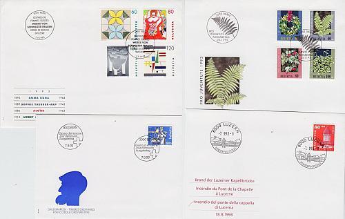 SCHWEIZ SWITZERLAND [1993] Jahr ex ( FDC )