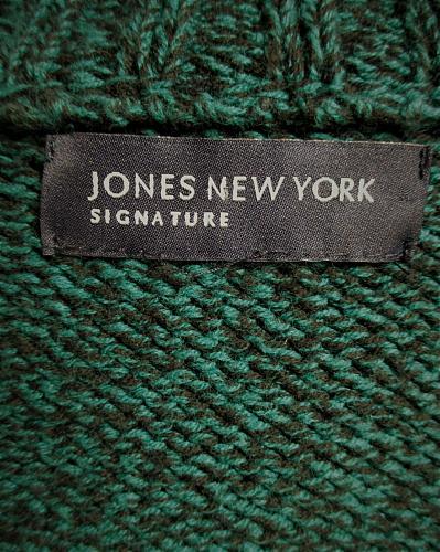 JONES NEW YORK womens 3/4 SLEEVE green FULL ZIP CARDIGAN SWEATER (A2)P