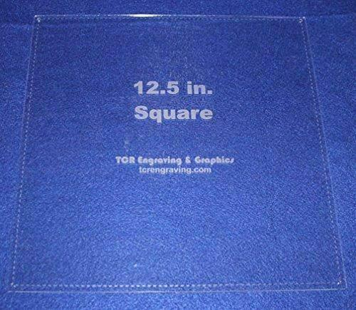 """Square Template 12.5"""" with Seam Allowance - Clear 1/8"""" 60 Degree"""