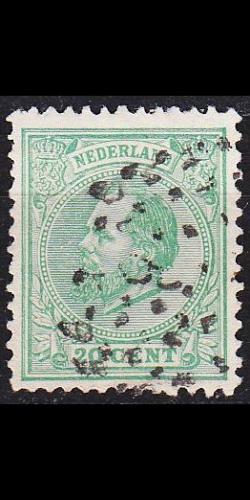 NIEDERLANDE NETHERLANDS [1872] MiNr 0024 D ( O/used )