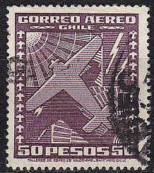CHILE [1934] MiNr 0219 b ( O/used ) Flugzeuge