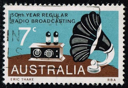 Australia #588 Broadcasting; Used (0.25) (4Stars) |AUS0588-05XBC